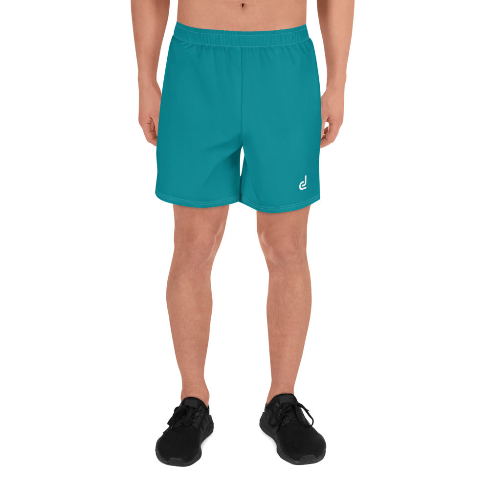 Daledon Men's Athletic Long Shorts (Crystal Blue)