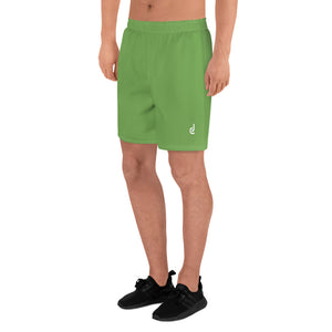 Daledon Men's Athletic Long Shorts (Leaf Green)