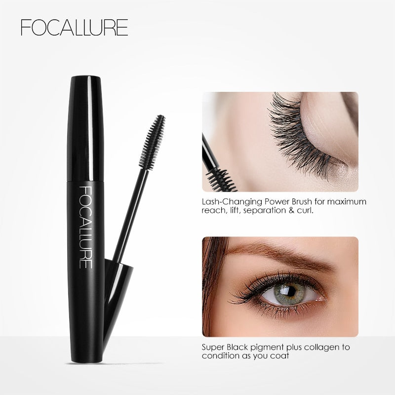 FOCALLURE Waterproof Black Mascara