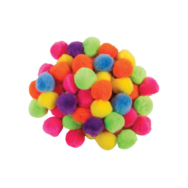 "2"" Pon poms, assorted colours - 10 pack"