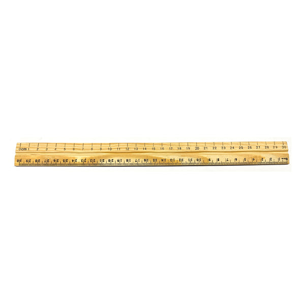 30 cm wood ruler(cm & mm graduations)