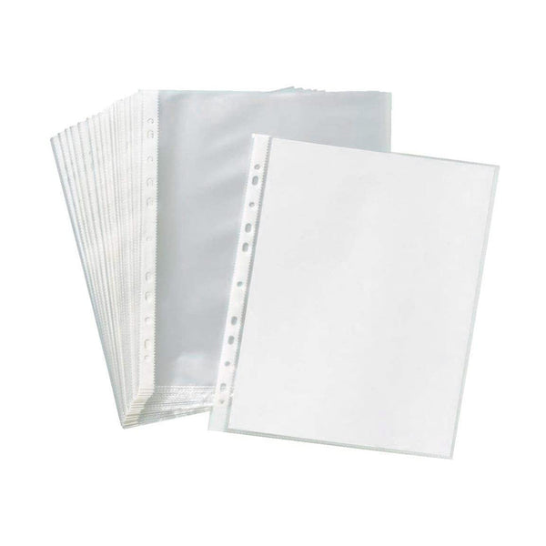 3 hole punched sheet protectors - 100 pk