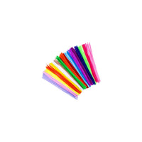 "6"" Pipe cleaners, assorted colours - 100 pack"