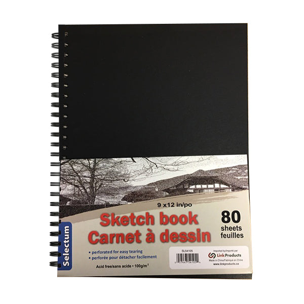 "9"" x 12"" Side coiled hard cover Scrap/Sketch-80 sheets"