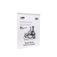 "9"" x 12"" Top coiled Scrap/Sketch Book - 30 sheets"