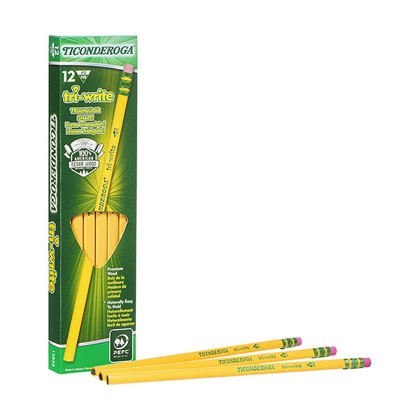 Dixon Ticonderoga HB standard Tri-write pencils - 12 pack
