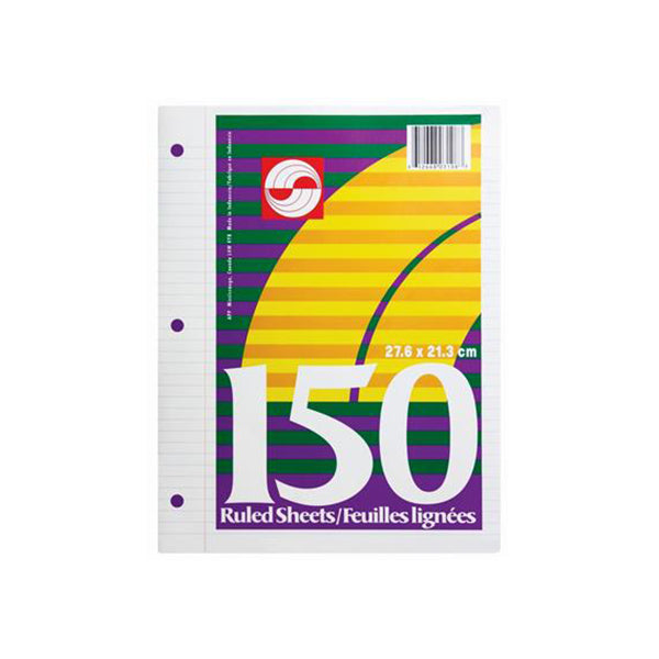 Lined refill paper - 150 sheets