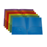 Poly twin pocket portfolio - assorted colours