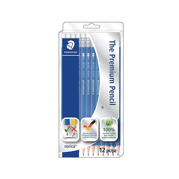 Staedtler (blue) high quality HB pencils - 12 pack