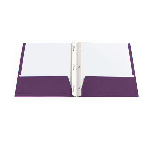 Twin pocket portfolios with 3 tangs - Purple