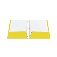 Twin pocket portfolios with 3 tangs - Yellow