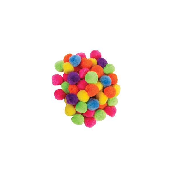 "1/2"" Pon poms, assorted colours - 85 pack"