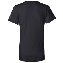 Load image into Gallery viewer, Ladies Black and Proud Black V Neck Tee