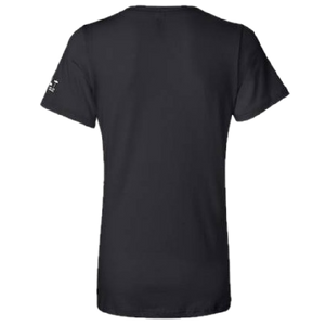 Ladies Black and Proud Black V Neck Tee
