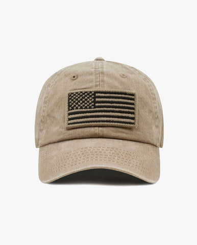 Pigment Low Profile USA flag Patch Baseball Cap