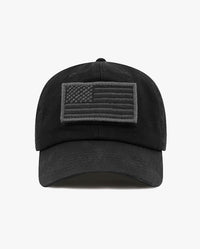 Cotton Low Profile USA flag Patch Baseball Cap