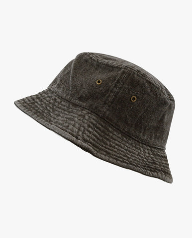 Kids Washed Denim Packable Bucket Travel Hat
