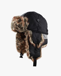 Safety Reflective Faux Fur Aviator Trapper