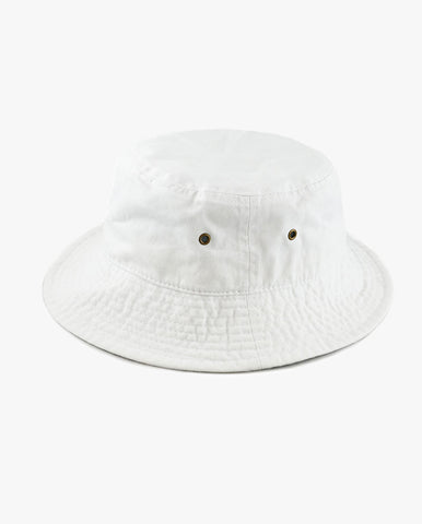 Kids Washed Cotton Packable Bucket Travel Hat