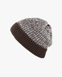 Ribbed Knit Beanie without Pom