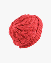 Curly Knit Beanie without Pom