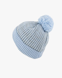 Ribbed Knit Beanie with Pom