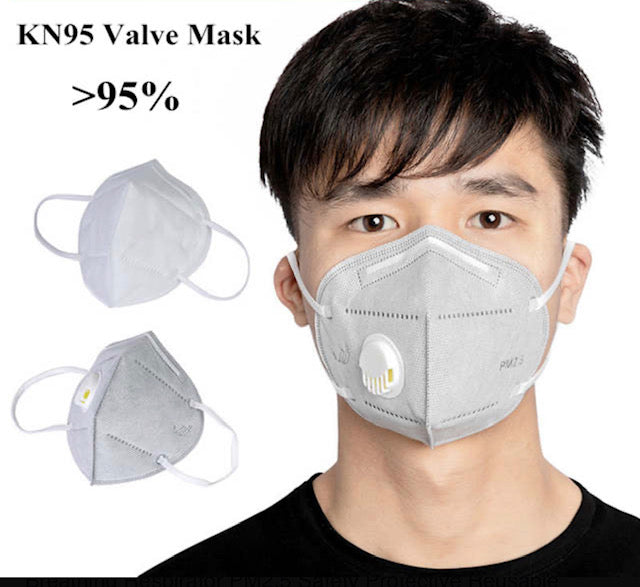 KN95 with breathing valve (5 pcs)