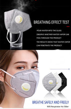 Load image into Gallery viewer, KN95 with breathing valve (5 pcs)