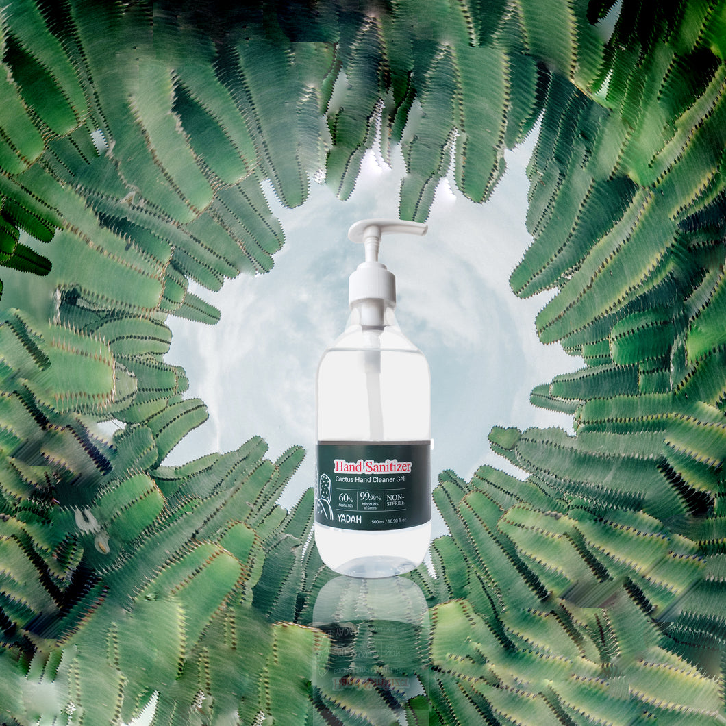 High powered hydrating cactus hand sanitizer