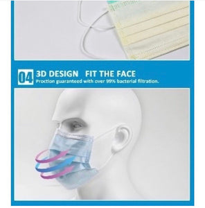 Professional grade 3 layer face mask 50 pcs/box