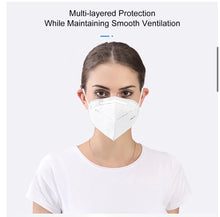 Load image into Gallery viewer, KN95 foldable mask. FDA approved 5 pcs