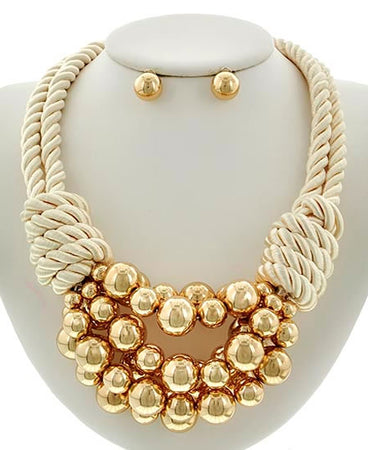 Golden Rope Necklace Set - Impulsive Fashion