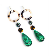 Green Drop Earrings - Impulsive Fashion