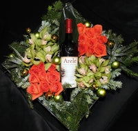 Rose & Wine Flower Box - Tooka Florist