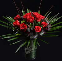 Red Rose Vase Arrangement - Tooka Florist