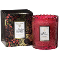 GOJI TAROCCO ORANGE SCALLOPED EDGE CANDLE - Tooka Florist