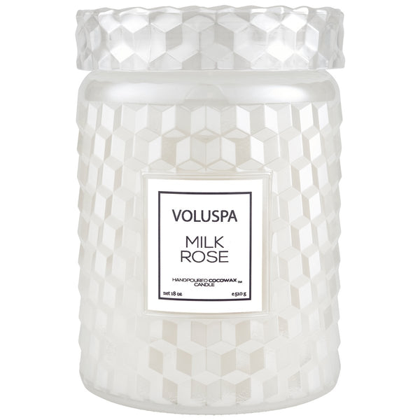 MILK ROSE LARGE JAR CANDLE - Tooka Florist