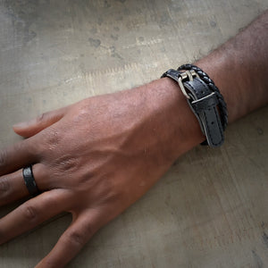 Greenwich leather bracelet