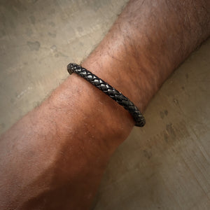 Carnaby braided leather bracelet