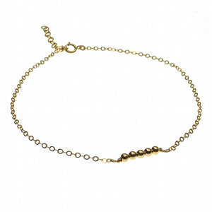 Ball chain anklet