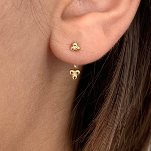 Double 3 dot earring