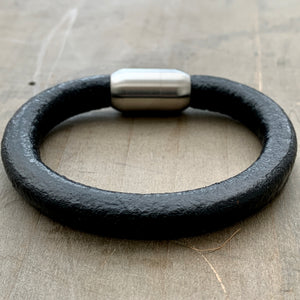 Coal'sYard black chunky unisex leather bracelet