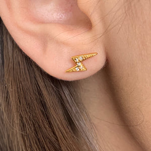 Star lightning ear stud earrings