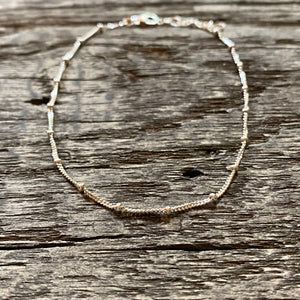 Minimal ball chain anklet