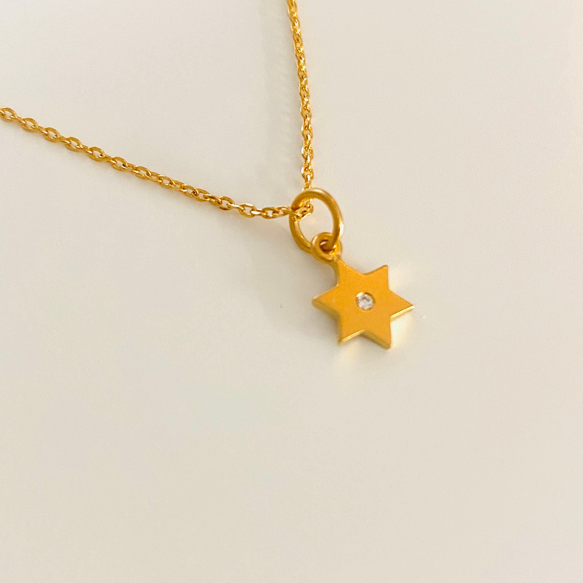 David star necklace