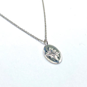 Oval star pendant