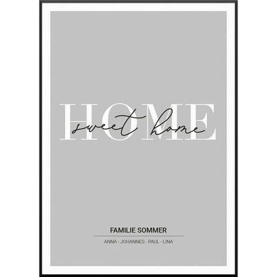myfamposter home sweet home familienposter