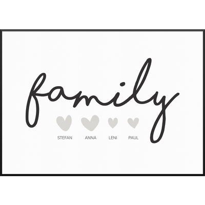 myfamposter family hearts familienposter