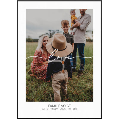 myfamposter fotoposter family
