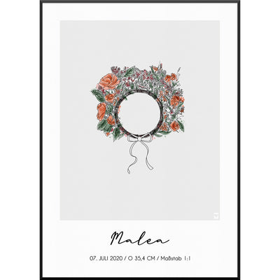 Personalisiertes-FloralCrownNo2Poster
